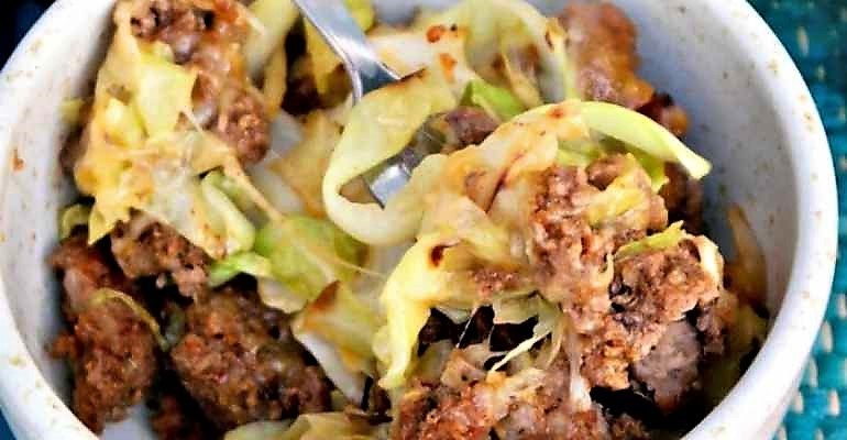 tex mex cabbage beef skillet