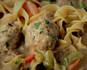 swedish meatball noodle soup